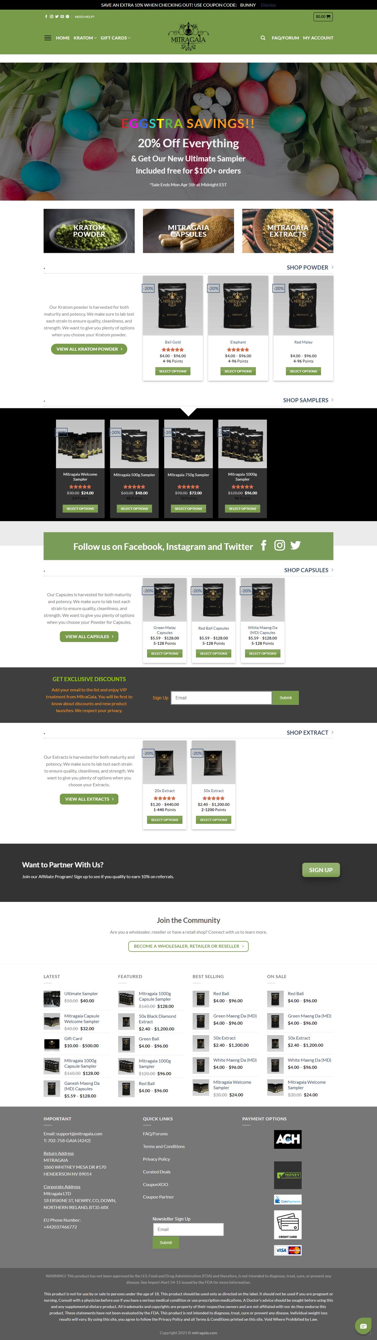 Mitragaia-eCommerce Website