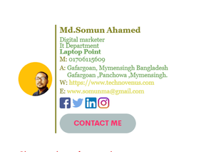 I will create HTML click -able High Quality Email Signature For You And Your Business.You are Most Welcome In My Services. Best Of Luck Soman Mia