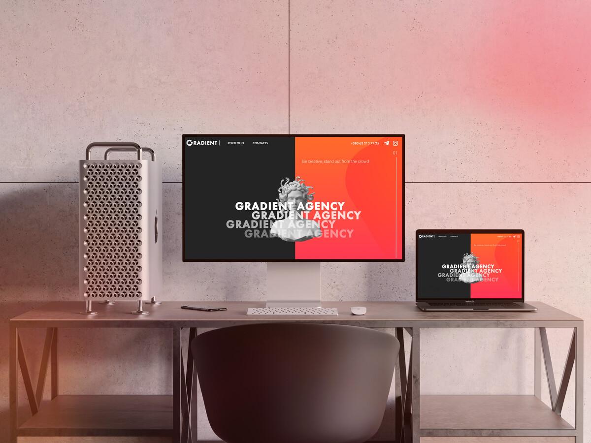 Full website development for Gradient Creative Agency