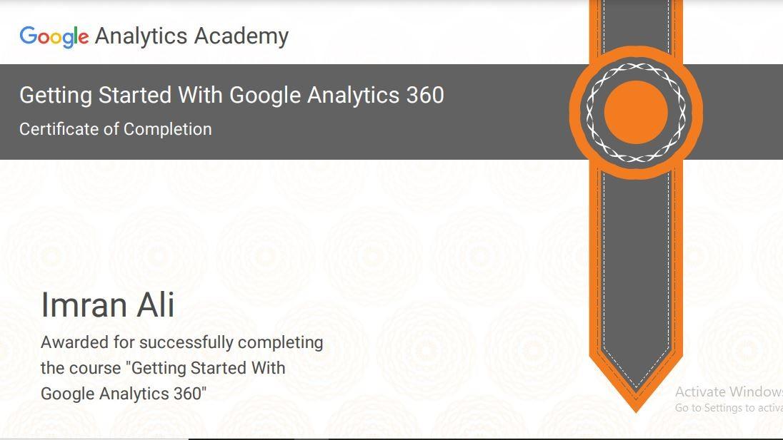 Google Analytics 360 Certification