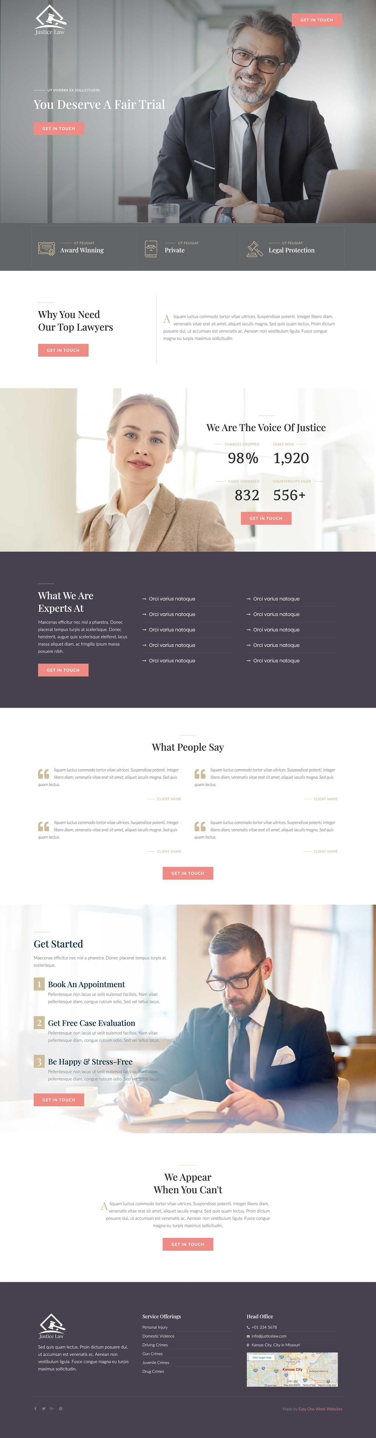 Legal or Lawyer Website Concept