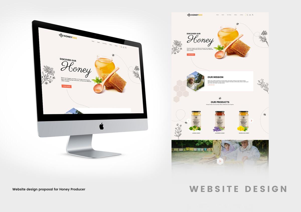 Honey Landing Page  - Website Design