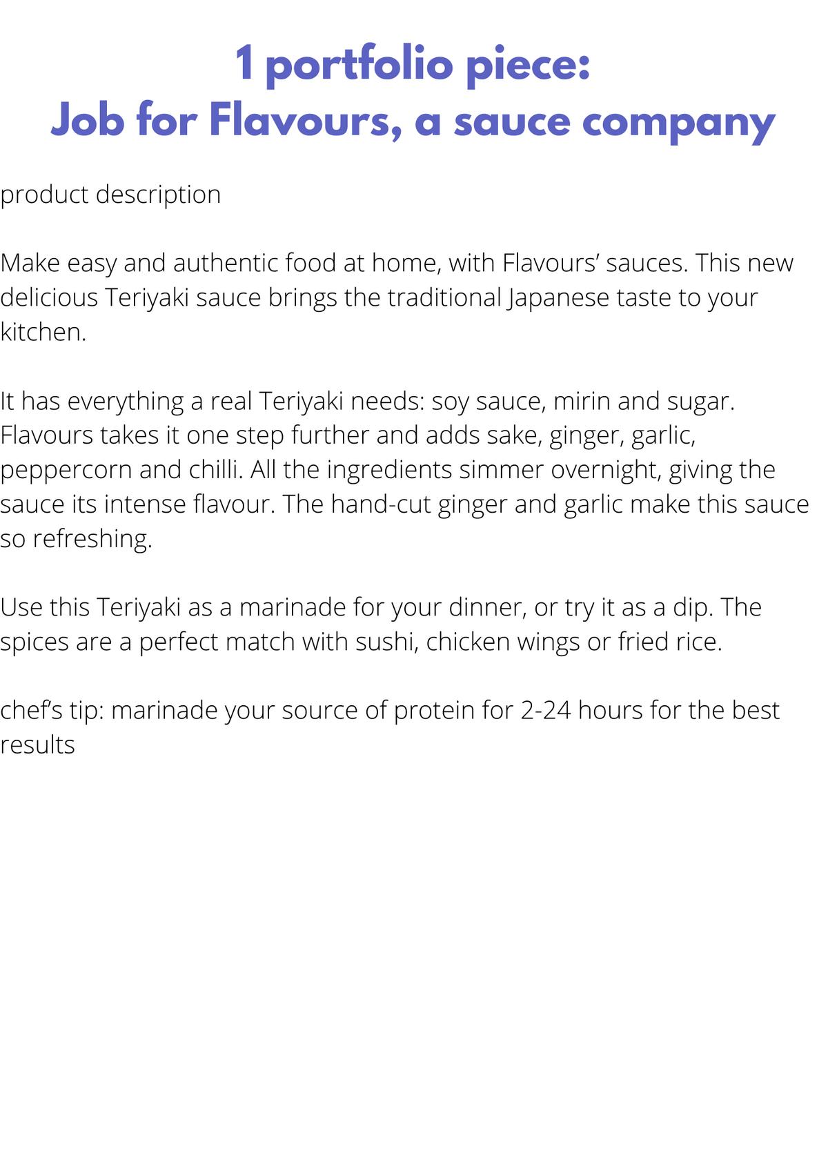 Product description for brand Flavours