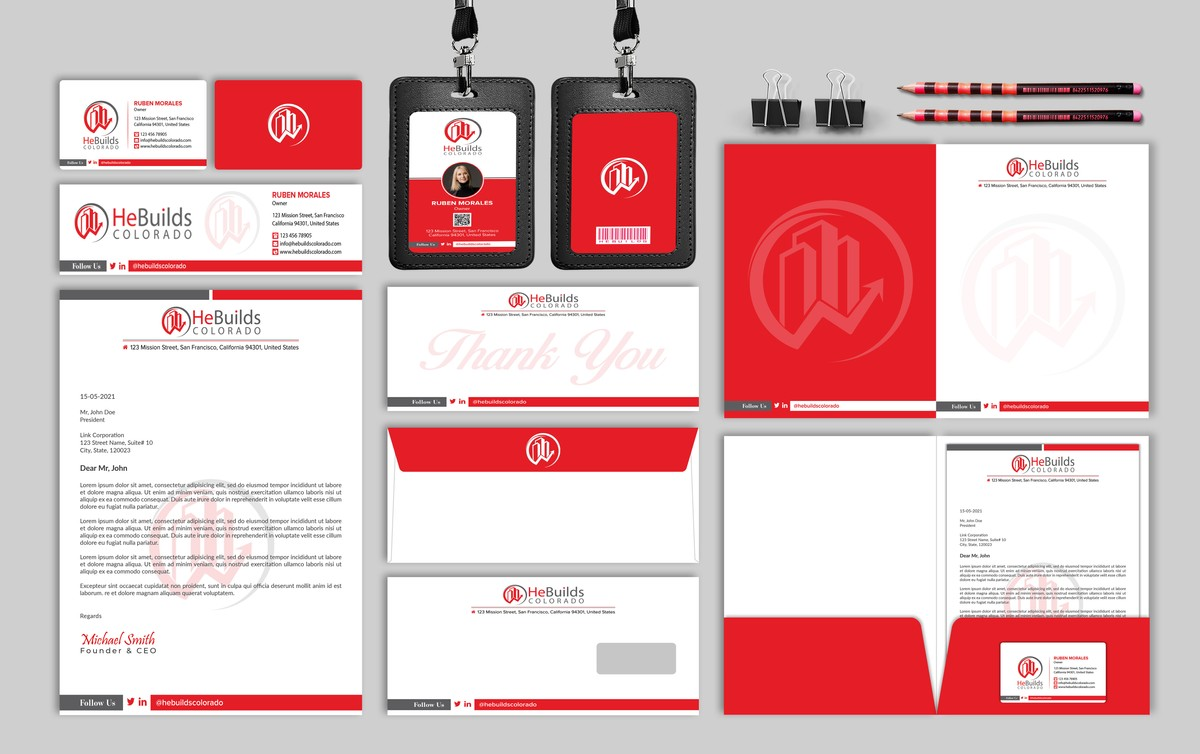 I will do professional business card, letterhead and full stationery design
