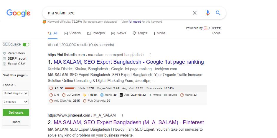MA SALAM, SEO Expert Bangladesh