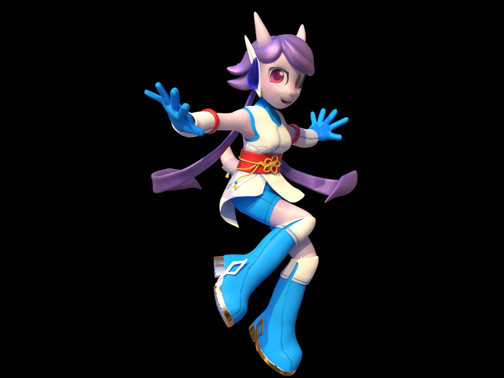 Sash Lilac from Freedom Planet 2